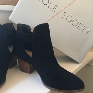 Sole Society Suede Ankle Boots EUC